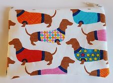 Dachshund Dogs in Sweaters Fabric Handmade Zippy Coin Purse Storage Pouch