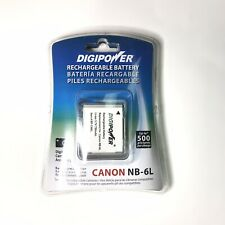 Digipower Rechargeable Battery Canon NB-6L Camera Pictures Video Power Shot