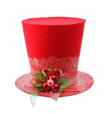 """RAZ Christmas RED HOLLY TOP HAT 11"""" 3519169 NEW Tree Topper AMAZING!"""