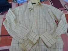 MENS TED BAKER LEMON YELLOW CHECK SHIRT SIZE L