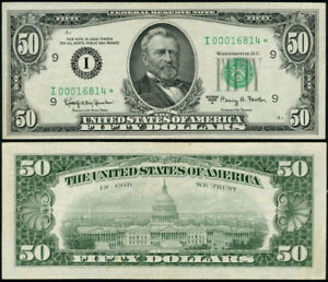FR. 2113 I* $50 1963-A Federal Reserve Note Minneapolis I00016814* XF Star 1st #