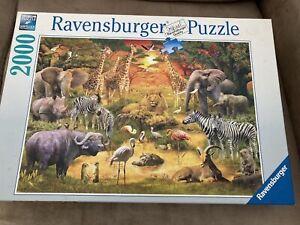Ravensburger Jigsaw 2000 piece Jigsaws - Gathering at the Waterhole - 167029