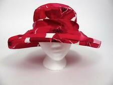 LILLIE & COHOE CANADA LADIES HOT PINK POPPY FLOWER FORAL SUN HAT BRIMMED~2