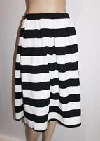 VALLEYGIRL Brand Black White Wide Stripe Pleated Skirt Size S BNWT #SU36
