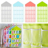 Hot 16 Pockets Clear Over Door Hanging Bag Shoe Rack Hanger Storage Organizer