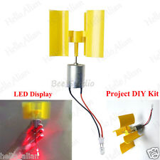 Diy Kit Small Dc Motor Vertical Micro Wind Turbines Blades Generator LED lights