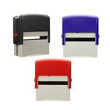 Custom Personalised Self Inking Rubber Stamp Kit Business Name Address DIY @I