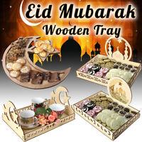 Islam Muslim Eid Al Adha Wooden Eid Mubarak Ramadan Food Serving Dessert Tray