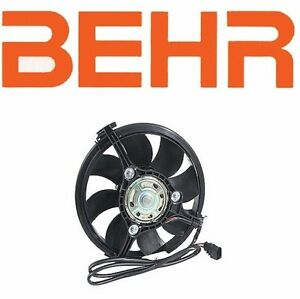 BEHR AC Condenser Auxiliary Engine Cooling Fan for Audi for Volkswagen Oval Plug