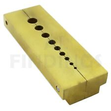 Brass spilt stake staking anvil 9 holes watch riveting watchmakers tool