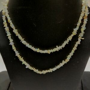 AAA Natural Stone Ethiopian Opal Welo Fire Uncut Chip Nugget Bead Strand 34'' ZZ
