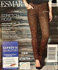 Esmara Damen Stretchhose Stretch Hose Leopard glänzend Gr. 36 Neu