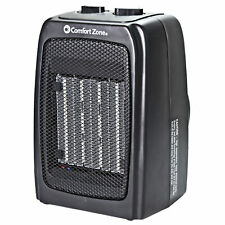 Comfort Zone CZ441E Personal Ceramic Heater - 1500W Energy-Efficient Fan-Forced