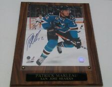 PATRICK MARLEAN SAN JOSE SHARKS Signed 8x10 Hockey in person Photo plaque  2008