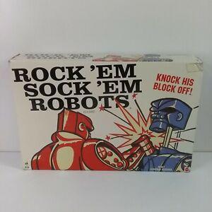 Rock'em Sock'em Robots - Mattel 2014 Classic Boxing Toy Game - Cleaned