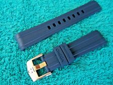 20mm WATCH  STRAP NAVY BLUE & PIN BUCKLE FOR OMEGA SEAMASTER  OCEAN DIVER 300