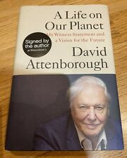 More details for david attenborough 'a life on our planet' hand signed, hardback book.