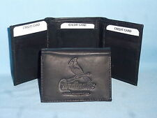 ST. LOUIS CARDINALS    Leather TriFold Wallet    NEW    black 3  m1