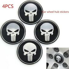4Pcs Car Style Skull Logo Aluminum Car Hub Cap Wheel Center Cover Stickers #dj8