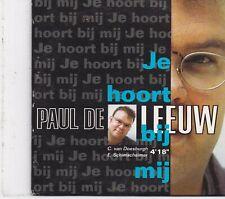 Paul De Leeuw-Je Hoort Bij Mij cd single
