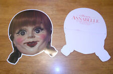 ANNABELLE 2014 Movie Promotional CARDBOARD MASK The Conjuring WALLIS Doll MINT