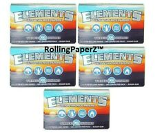 ELEMENTS/ 5 Packs/ 300 Leaves Each =1500 - 1 1/4 Size Thin Rice rolling papers