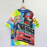 Vintage 2000 Jeff Gordon Chase Authentics T-Shirt Large NASCAR All Over Print