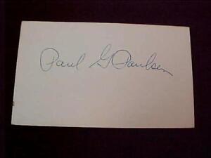 1925 St. Louis Cardinals; Pitcher Paul G. Paulsen Autograph