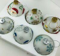 VINTAGE Christmas Flameless Wax Lighted Ornament Santa Gingerbread Snow