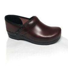 SANITA Clogs Mules Brown Leather Nursing Comfort Women US 10.5 EU 42 VG Cond