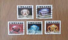 Complete Zimbabwe used stamp set: 1980 Precious Stones