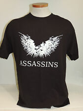 Port and Company ASSASSINS T-Shirt Gun Wings and Skull Size Large