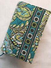 "Vera Bradley ""PEACOCK"" LIME GREEN/TURQUOISE Paperback Book Journal Cover 7""x 5"""