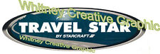 TRAVEL STAR  by Starcraft RV LOGO  Blue  decal Travel Trailer Graphic Not Old