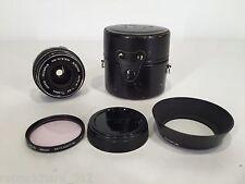 RARE Vtg OLYMPUS G. Zuiko 28mm F3.5 OM Wide Angle LENS w/ EXTRAS! SLR Film Art