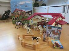 Reiterhof Pferdehof Bullyland mit viel Zubehör Pferde
