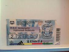 Football Ticket - RSCA Anderlecht - Halmstadt Bollklubb - UEFA - 2001
