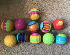 Playskool Balls Lot of 11 Sensory Sound Tactile ColorRoll Around Balls Kinetic