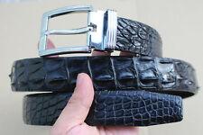 Black Genuine Alligator ,Crocodile Belt Skin Leather Men's