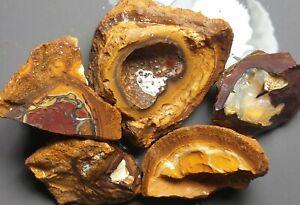 Boulder Opal Rough Parcel Yowah Nut Solid Natural Lapidary Specimens 163 grams