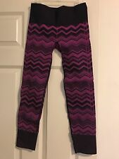 Lululemon Purple And Black Leggings Size 6