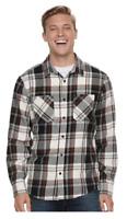 Urban Pipeline Mens Long Sleeve Flannel Button Down Shirt Brown Plaid Sz XL NWT