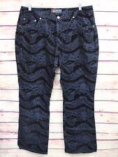 Womens Low Rise Fit Jeans Plus Size 18W Black Gray Pants