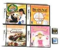 Lot of 6 Nintendo DS Children's Family Quiz Pets Cooking Games