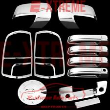 For 2009-2012 Dodge Ram1500 Chrome Cover Mirror Dr handle Tailgate Taillight Gas