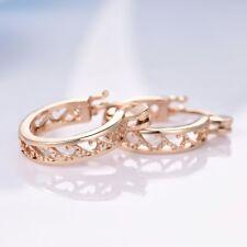 Fashion Retro Jewellery Women Gold Filled Stunning Hollow Hoop Stud Earrings
