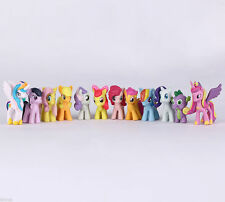 12pcs/set 5cm My Little Pony Decorazioni per Torta Bambola Action Figures Toy PVC Twilight