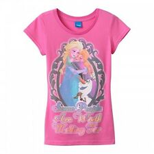 """Disney's Frozen """"Some People Are Worth Melting For"""" $24 Girls Tee-L"""