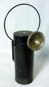 1914 WWI Era Delta Minors Hand Held Torch Flashlight Lamp Lantern