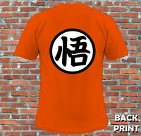 Goku Kanji Dragonball Z Kakarot Inspired T Shirt S-2XL (Back Print) Adults Kids